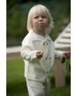 Baby Strickjacke JUPITER aus 100% Kaschmir wollweiß
