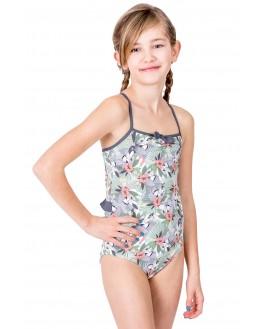 Mädchenbadeanzug in Hawaii-Tukan-Druck