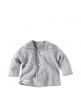Baby Strickjacke JUPITER aus 100% Kaschmir silbergrau
